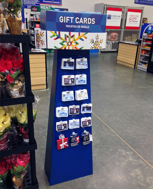 Flooring Gift Certificate : Popon image gallery lowes gift cards floor display