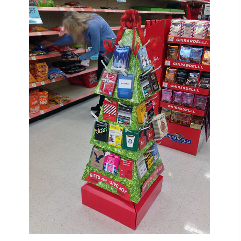 Gift card trees gift card ideas give joy holiday gift card tree display negle Choice Image