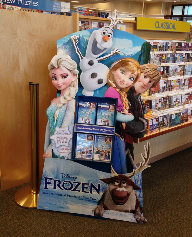 Popon | Image Gallery | Disney Frozen Standee Floor Display